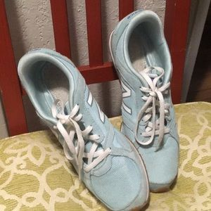 New Balance Light Blue Suede Sneakers
